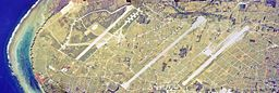 The aerial photo of three runways in Iejima-Island.1977.jpg