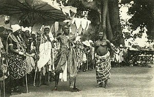 Abomey - Image: The célébration at Abomey(1908). Dance of the Fon chiefs