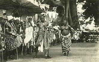 Abomey - Image: The célébration at Abomey(1908). Dance of the Fon chiefs