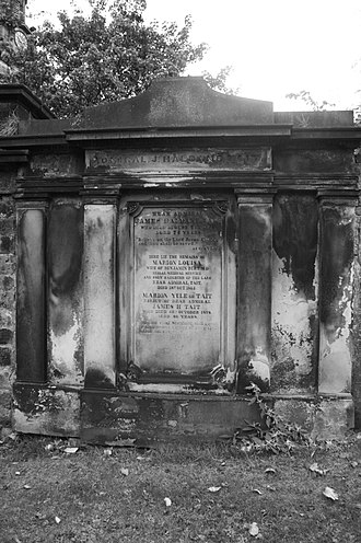 James Haldane Tait - The grave of Rear-Admiral James Haldane Tait, St Cuthberts, Edinburgh
