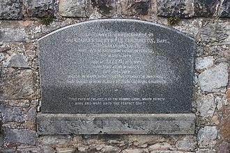 Sir Charles Dalrymple Fergusson, 5th Baronet - The grave of Sir Charles Dalrymple Ferguson, Inveresk churchyard