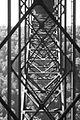 The innards of the New River Gorge Bridge in black and white (8343317782).jpg