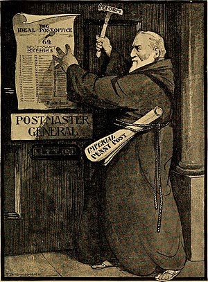 John Henniker Heaton - John Henniker Heaton as depicted in The life and letters of Sir John Henniker Heaton bt. by Rose Henniker Porter (1916)