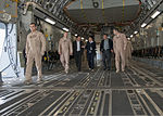 The mayors of At-Bashinskiy and Jangi-Jer State Village Administrations in Kyrgyzstan tour the inside of a U.S. Air Force C-17 Globemaster III aircraft with Airmen assigned to the 817th Expeditionary Airlift 130521-F-KZ210-002.jpg