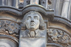 The poet James Beattie as depicted on the Scott Monument.JPG