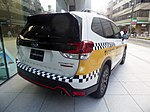 The rearview of Subaru FORESTER X-BREAK (5BA-SK9) used as a Galande taxi.jpg