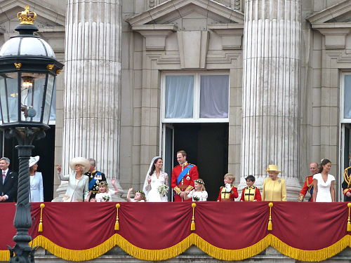 The royal family on the balcony