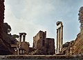 The ruins of the temple of Vesta (left) and the brothers Dioskurs – castor and Pollux.jpg