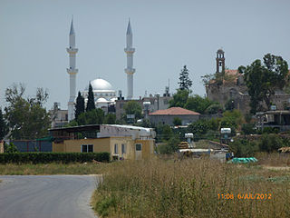 The village of Marathovounos, Cyprus, from the northern Tsiados road..jpg
