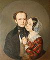 Theodore Deller with wife Elizabeth Sheremeteva by I.Makarov (1846, GIM).jpg
