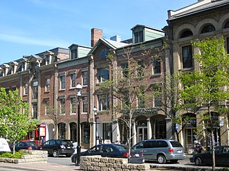St. Lawrence, Toronto - The area consists of commercial and residential developments.