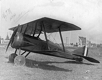 Thomas-Morse S-4 - Thomas Morse S-4C with training school number on fuselage sides