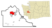 Thurston County Washington Incorporated and Unincorporated areas Olympia Highlighted.svg