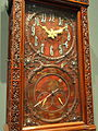 Tiffany Tall Clock, about 1880, Tiffany and Company, New York, mahogany and teak - Cleveland Museum of Art - DSC08958.JPG