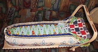 Cradleboard - Atikamekw cradleboard