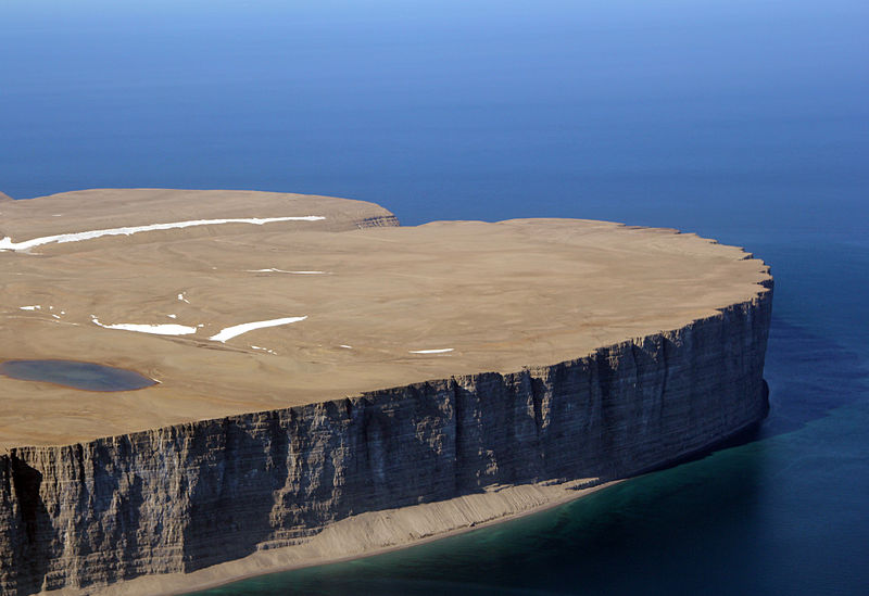 cliffs at the Tip of Prince Leopold Island, place in Nunavut