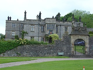 Tissington Hall house in Tissington and Lea Hall, Derbyshire Dales, Derbyshire, England