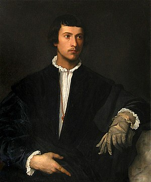 1523 in art - Titian – Man with a Glove