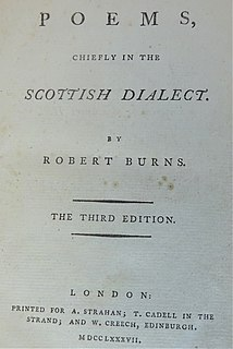 <i>Poems, Chiefly in the Scottish Dialect (London Edition)</i> 1787 collection of poems by Robert Burns
