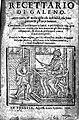 """Title page """"Recettario di Galeno..."""", 1602 Wellcome L0009526.jpg"""