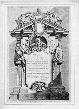 Gilles-Marie Oppenordt - Title page of the Grand Oppenord