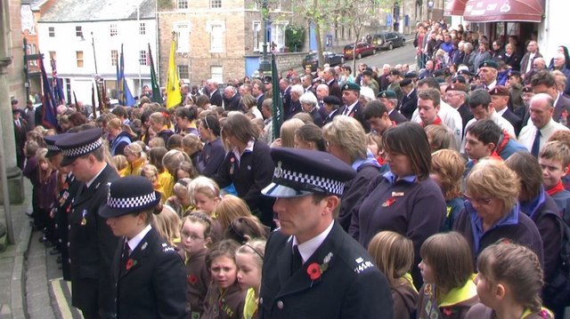 Tiverton , Angel Hill on Remembrance Sunday - geograph.org.uk - 1573745