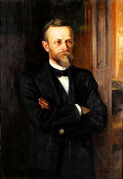 Albert Edelfeltin maalama Axel Lillen muotokuva.