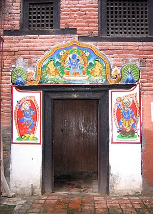 Asan, Kathmandu - Doorway at Taktse Baha