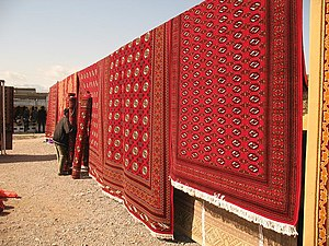 Turkmen rug - Carpets in Altyn Asyr Bazaar