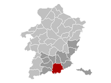 Location of Tongeren in Limburg
