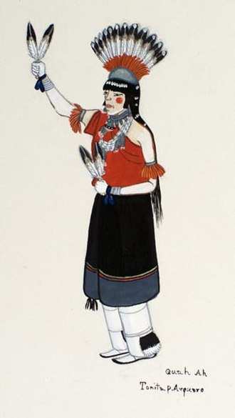 Tonita Peña - Painting, dancer