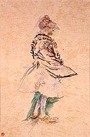 Toulouse-Lautrec - DANSEUSE DEBOUT DE PROFIL, 1887, MTL.121.jpg