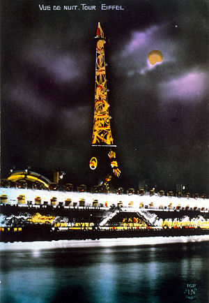 International Exhibition of Modern Decorative and Industrial Arts - The Eiffel tower was turned into an illuminated advertisement for Citroën during the Exhibition