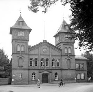 Belsen trial - Place of the Belsen Trial: old MTV gymnasium, Lindenstraße 30, Lüneburg