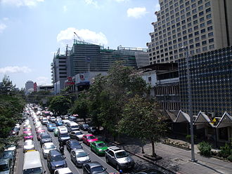 Megacity - Bangkok is notorious for its traffic congestion.