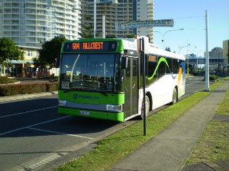 Surfside Buslines - TransLink liveried Bustech MDi in Tweed Heads in August 2008