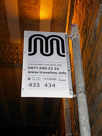 Transport for Greater Manchester - A TfGM bus stop in 2011 following rebranding