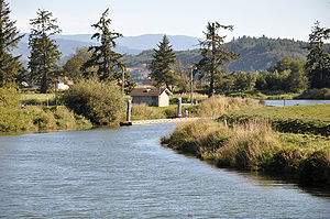English: Trask River at Tillamook, Oregon, in ...