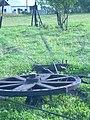 Treadwheel in old petroleum mine in Kryg.JPG