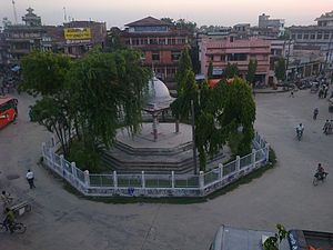 Saptari District - Tribhuvan Chok (now Gajendra Chok) situated in the centre of Rajbiraj