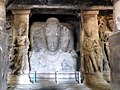 Trimurti Sculpture 3 Faced Shiva 20 feet high Cave 1 Elephanta Caves Elephanta Island India - panoramio.jpg