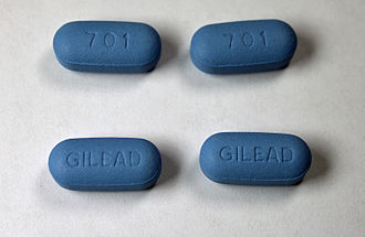 Pre-exposure prophylaxis - Tablets of Truvada, the tenofovir/emtricitabine combination used for HIV pre-exposure prophylaxis