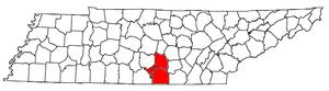 Tullahoma, Tennessee micropolitan area - Image: Tullahoma Micropolitan Area