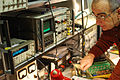 Tweaking for the right frequency 1 - IZ1MDJ Maurizio.jpg