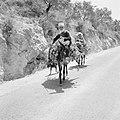 Twee Druzen op zwaar beladen ezels op een landweg, Bestanddeelnr 255-3747.jpg
