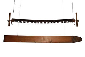 Crosscut saw - Two-man felling saw and springboard