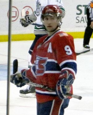Tyler Johnson (ice hockey) - Johnson during his time with the Spokane Chiefs