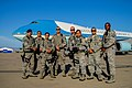 U.S. Airmen with the 129th Security Forces Squadron, California Air National Guard protect Air Force One at Moffett Federal Airfield, Calif., June 6, 2013 130606-Z-HW473-104.jpg