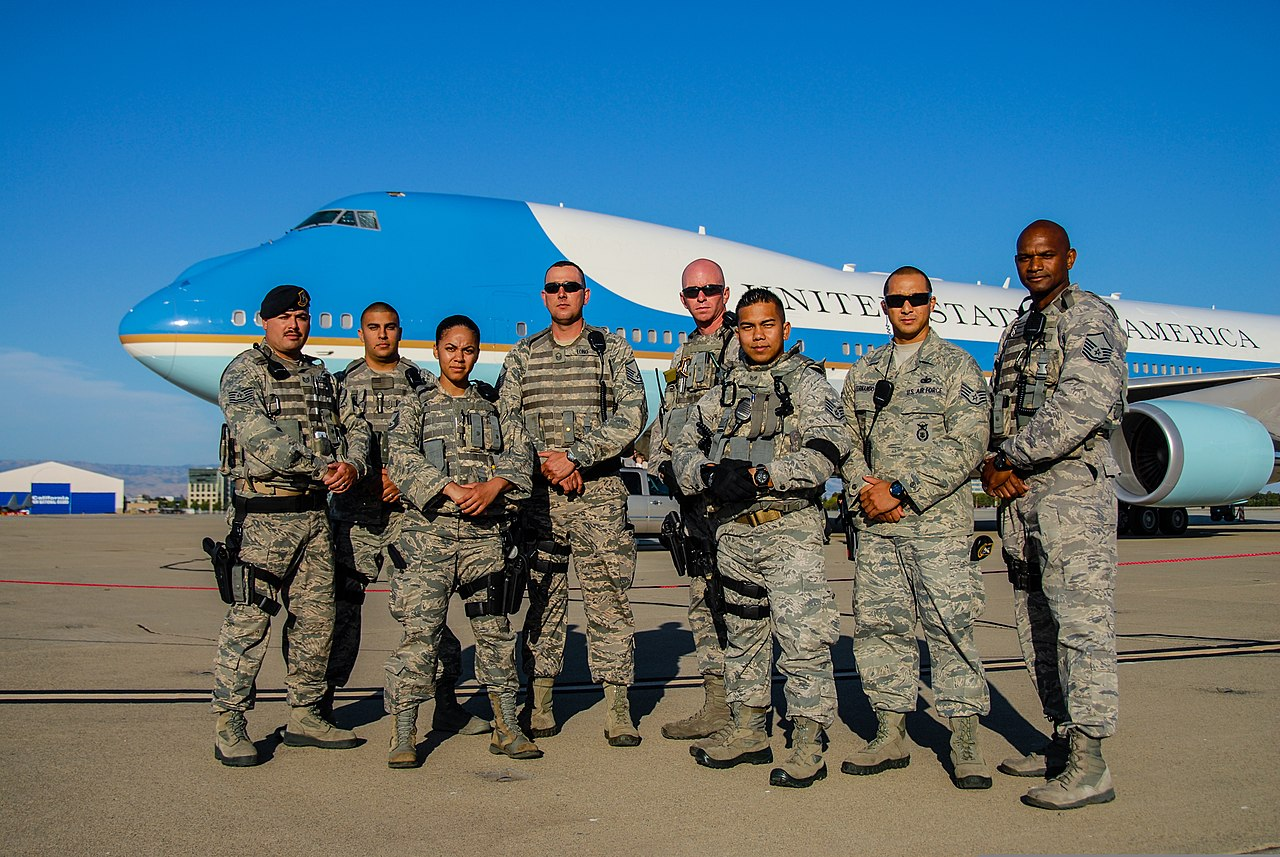 File U S Airmen With The 129th Security Forces Squadron