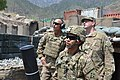 U.S. Army Maj. Gen. Joseph Anderson, left, commanding general of the 4th Infantry Division and Fort Carson, Colo., and two Soldiers assigned to 4th Brigade Combat Team, 4th Infantry Division, watch to see where 120805-A-UU514-014.jpg